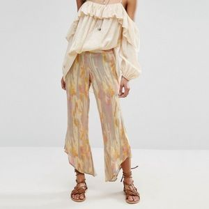 NWT Free People Dancing Days Pull On Flare Pants